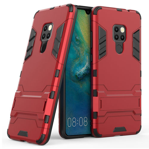 Slim Armour Tough Shockproof Case & Stand for Huawei Mate 20 - Red